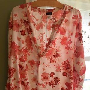 Basic editions light weight blouse XL